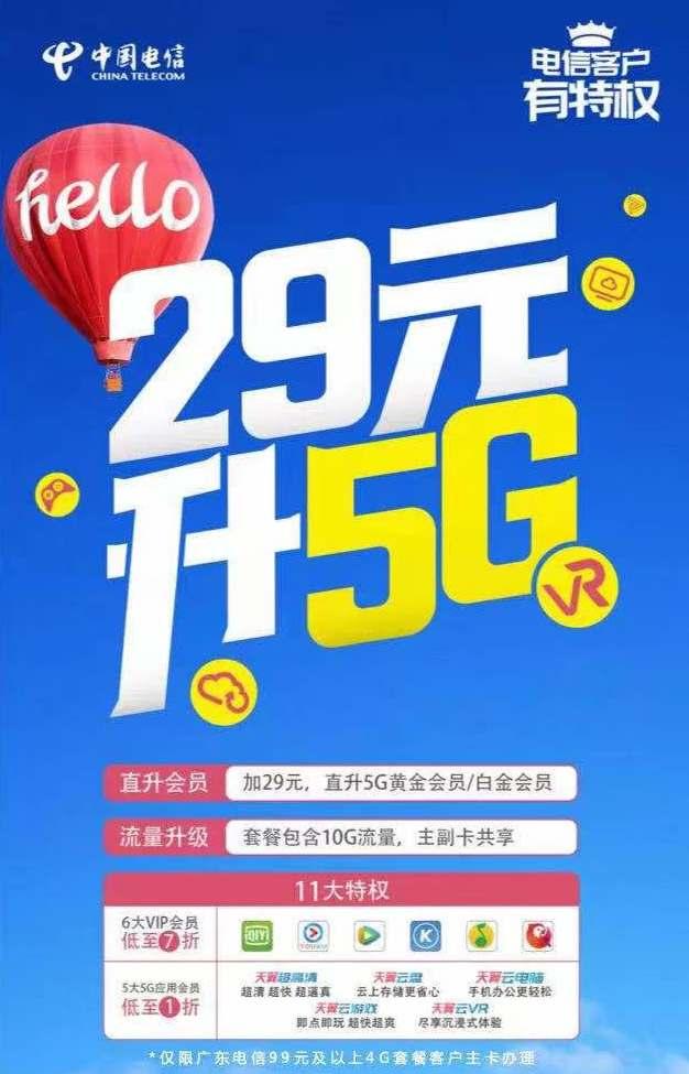 中国电信5g会员升级包怎么办理订购,需要换卡换套餐吗